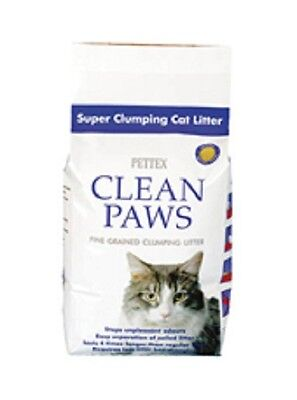 Pettex Clean Paws Cat Litter 15kg Suitable For Cats With Dust Allergies