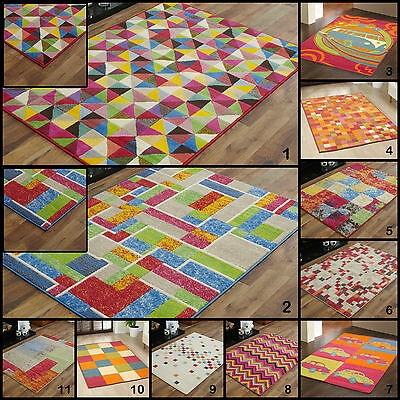 New Large - Small Multi Colour 8Mm Quality Modern Budget Cheap Discount Rugs Mat