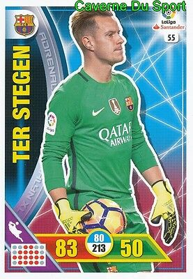 055 Marc-Andre Ter Stegen Germany Fc.barcelona Card Adrenalyn Liga 2017 Panini