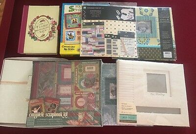 SCRAPBOOKING SUPPLIES- EVERYTHING YOU NEED! 3 Kits 5 Albums ALL NEW LOT OF 8