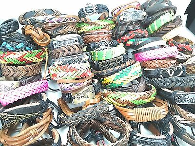 wholesale bulk 40 PCS Mixed Retro Leather Bracelets Fashion Party Jewellery