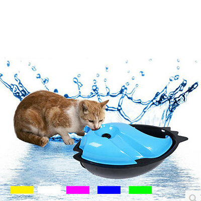 Pet Cat Dog Electric Fresh Running Water Fountain Waterer Cycle Feeder