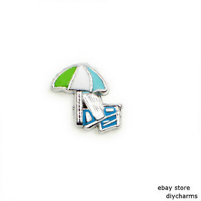10pcs Umbrella Floating Charms For Memory Glass Locket Free Shipping FC1567