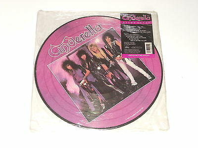 Cinderella - SEALED PICTURE LP - Night Songs - USA 1986 - PolyGram 832 255-1 M 1
