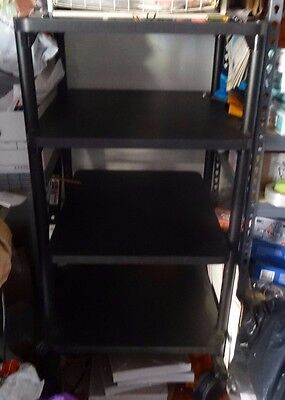 Anthro Computer Office Desk Mobile Heavy Duty Shelving with Caster Wheels
