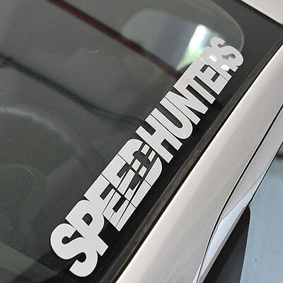 Silver SPEEDHUNTERS Front Windshield Side Decal Vinyl Car Stickers Decorations