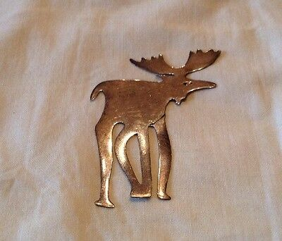 """Vintage Mexico Sterling 925 Moose Bookmark 6.3g ~ 2 3/4"""" X 2"""""""