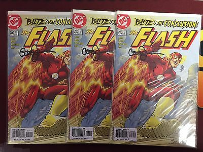 Flash (1987) #200 Blitz Part 4 1st Zoom storyline DF Signed by Geoff Johns X/599