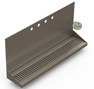 "30"" Draft Beer Wall Mount Drip Tray With Up To 10 Faucet Holes"