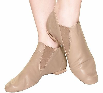 Capezio Womens Split Sole Gore Boot Jazz Leather Shoe Dance Ballet CG05 Tan