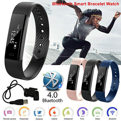 HOT Smart Wristband Waterproof Sports Fitness Tracker Bluetooth Bracelet Watch