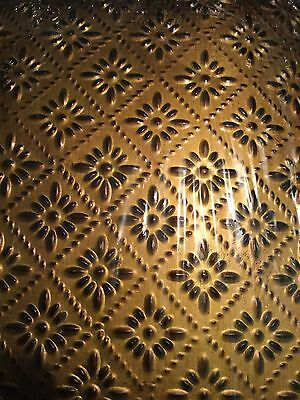 Salvaged, by BCI Crafts Tin Ceiling Tile, Gold Rosette Metal