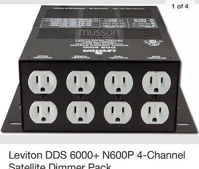 Leviton DDS 6000+ N600P 4-Channel Satellite Dimmer Pack