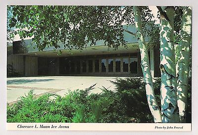 Clarence L. Munn Ice Arena Michigan State University Hockey Vintage Postcard