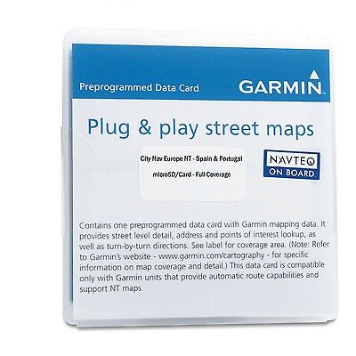 Garmin City Navigator 2012 Spain/Portugal microSD Card (Discontinued by Manuf...