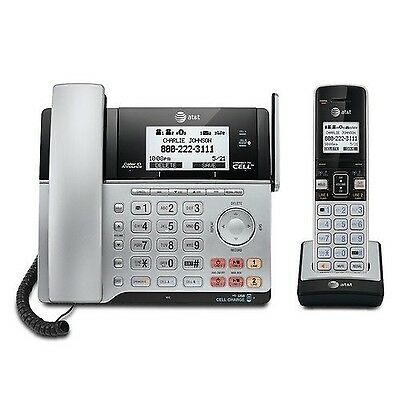AT&T TL86103 DECT 6.0 Connect to Cell 2 Line Answering System with Caller ID/...