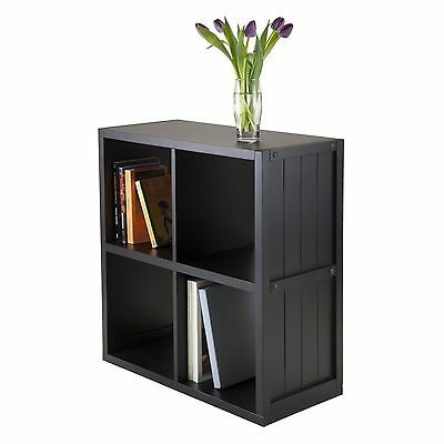 Winsome Wood Shelf Cube with Wainscoting Panel 2 by 2-Inch No baskets