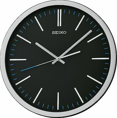 Seiko QXA676K Black Wall Clock with Sweeping Hand