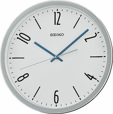 Seiko QXA676S Silver Wall Clock with Sweeping Hand
