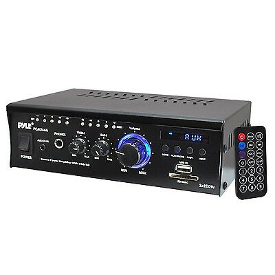 Pyle-Home 2 x 120W Mini Power Amplifier with LED Display PCAU46A