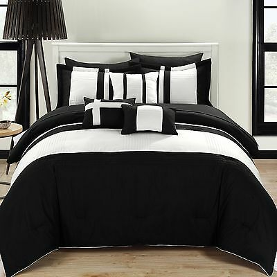 Chic Home 10-Piece Fiesta Bed-In-A-Bag Comforter Set King Black