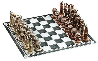 Golf Gifts & Gallery 1304 Clubhouse Collection Executive Golf Motif Chess Set