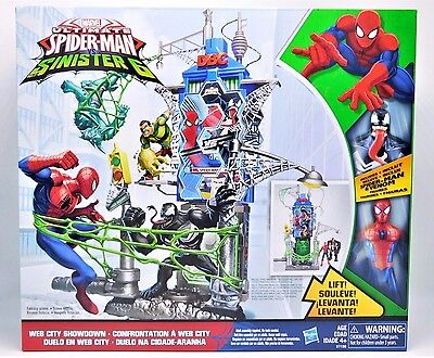 Marvel Spider-Man Web City Showdown Play Set- Action Figures Included!