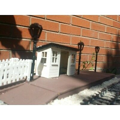 Four station lamp posts for Garden Railway 16mm Scale SM32 G45 Narrow Gauge.
