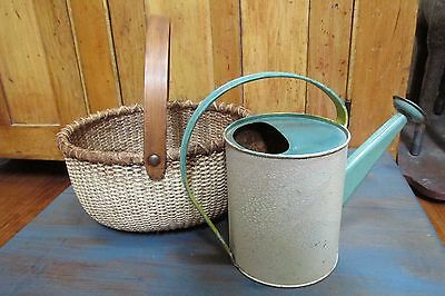 Child's Gathering Basket and Water Can, Country, Farm House, Cabin, Primitive