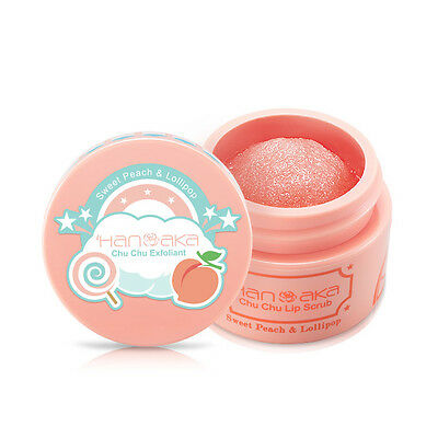 [HANAKA] Sweet Peach and Lollipop Chu Chu Exfoliating Lip Scrub 15ml NEW