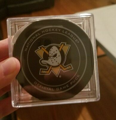game used puck anaheim ducks