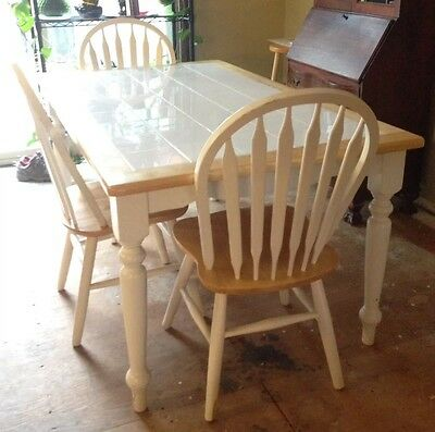 Vintage 90u0027s Dining Room Set   Table/3 Chairs And Buffett NEGOTIABLE