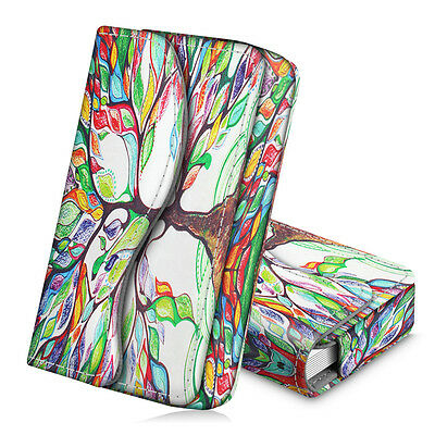 Business Card Holder Name Card Wallet Case Organizer Magnetic Closure- Love Tree
