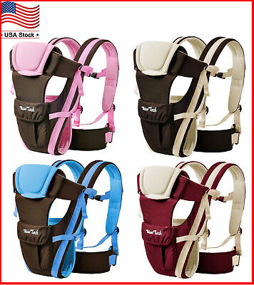 Newborn Infant Baby Carrier Adjustable Comfortable Wrap Rider Sling Backpack NEW