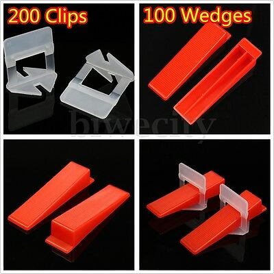 300 Tile Leveling System 200 Clips + 100 Wedges Floor Wall Level Tiling Tool