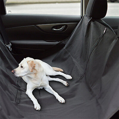 Pet Dog Car Seat Cover Barrier Adjustable Pet Hammock Blanket Mat Waterproof BK