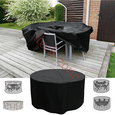 Garden Patio Table Round Rain Cover Waterproof Furniture Shelter 4 6 8 Seater AU