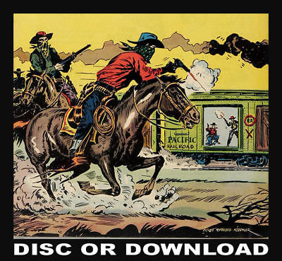 WESTERN, WILD WEST, COWBOY COMICS - Giant Golden Age Collection Scanned To Disc!