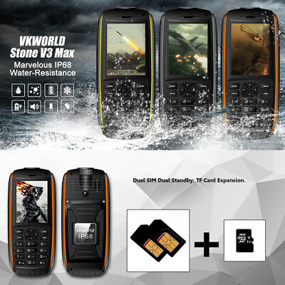 VK World V3Max IP68 Low Temperature Protective 2.4 Inch Screen Display Phone HM