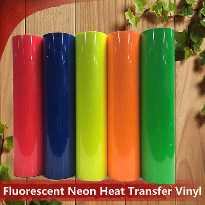 Fluorescent Neon PVC Heat Transfer Vinyl Iron-on for Textile Wide:20''