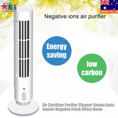 Remover Air Pollutants  Ionizer Best Gift Air Cleaner Purifier Freshener White