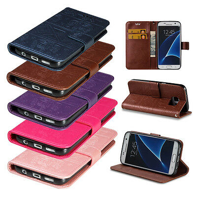 Wallet Leather Card Holder Flip Stand Magnet Skin Case Cover for Samsung Galaxy