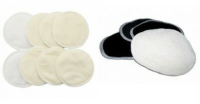Bamboo Organic Washable Breast Nursing Maternity Pads Super Absorbent 6X PCS
