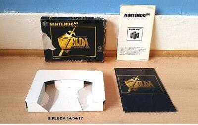 The Legend of Zelda Ocarina of Time N64 Box/Insert & Manual Only No Game