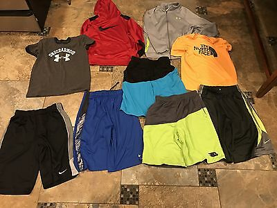 Lot Of boys Clothes/shirts(Nike, Tony Hawk, North Face, Under Armour)-size Large