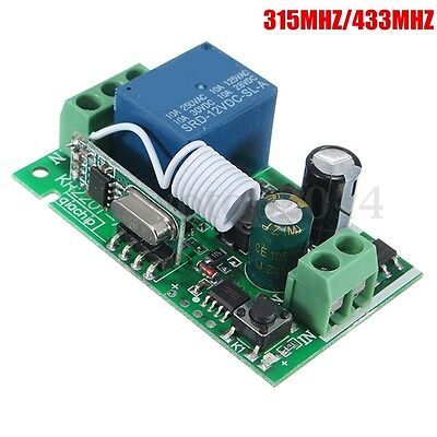 220V 10A 315/433MHz 1CH Channel Wireless Relay Remote Control Switch Receiver