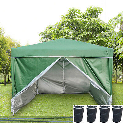 Panana Waterproof 3x3m Pop Up Gazebo Garden Marquee Awning Party Tent Canopy NEW