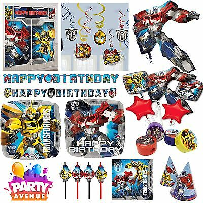 Transformers Party Tableware Decorations Balloons Favours