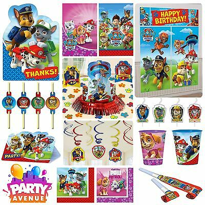 Paw Patrol Party Tableware Decorations Balloons Favours