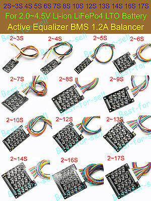 3S 4S 6S 10S ~17S Li-ion Lifepo4 LFP Battery Active Equalizer BMS 1.2A Balancer